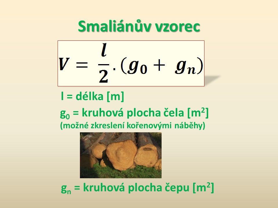 Smaliánův vzorec l = délka [m] g0 = kruhová plocha čela [m2]